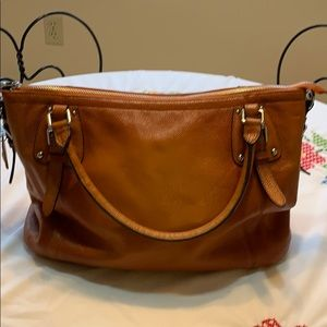 GORGEOUS Hesche large genuine leather shoulder bag